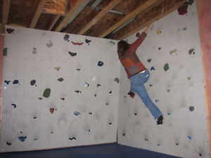Climbing Wall, Holds and Mats