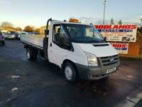 2010 10 PLATE FORD TRANSIT 115 T330 LWB TWIN WHEEL DOPSIDE PIC UP, NO VAT