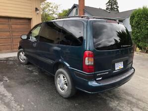 1997 Chevrolet Venture LS - 3dr Mini-Van, 110,825 miles, Green