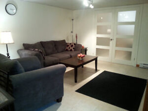 Large fully furnished one-bedroom apt 5 min. east of UPEI
