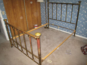 antique iron bed buy sell items tickets or tech in ontario kijiji classifieds. Black Bedroom Furniture Sets. Home Design Ideas