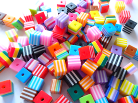 Children's Art Crafts Beads, Striped Resin Beads, Jewellery Making