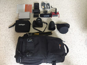 MUST SELL** Nikon 3300 DSRL with many add ons