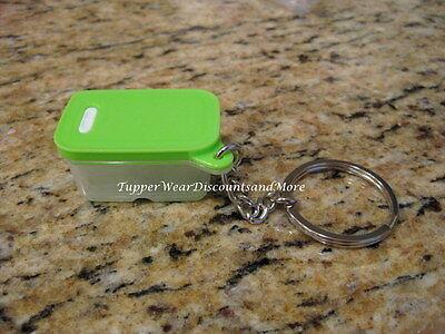 Tupperware New Mini Fridgesmart Keychain Green Seal