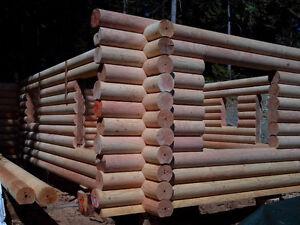 Fir log cabin /  log home shells