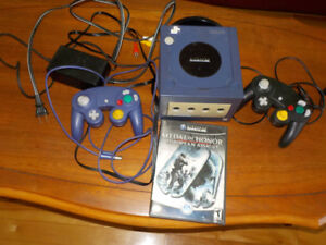 Gamecube with 2 controllers and game