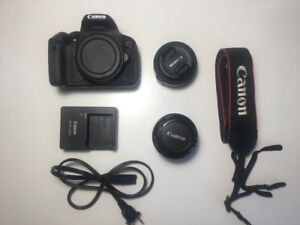 Canon Rebel T4i with 3 lenses