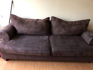 Micro suede couch