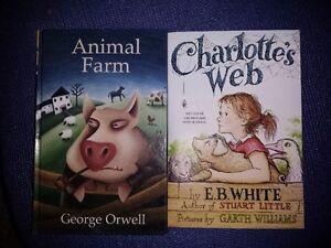 Animal Farm (George Orwell) + Charlotte's Web (E.B. White)