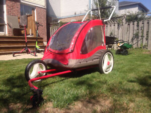 LITTLE TIKES !!! 2 in 1  bike trailer and stroller 2 seater.