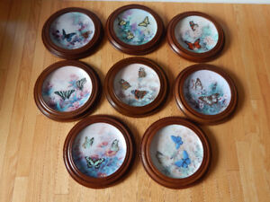 "Bradford Exchange butterfly plates ""On Gossamer Wings"" 8 plates"