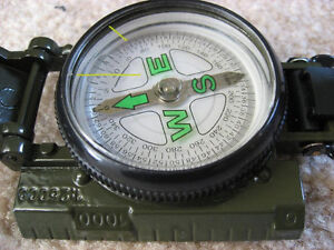 Hiking Camping Lensatic Lens Compass 3 in 1