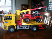 Bruder Man TGA Breakdown Truck with Cross Country Car