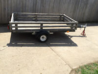 Trailer 4 x 8  with tilt tows easy will deliver if needed