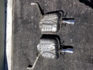 Cadillac factory Mufflers from a 2005 3.6 Litre Cadillac CTS