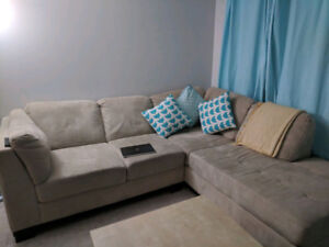 Brick Sectional Couch - LH Chaise
