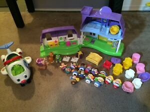 Fisher price little people lot! House,Plane ect