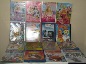 FOR SALE A LOT OF CHILDREN'S DVD'S DISNEY, SESAME STREET, BARBIE