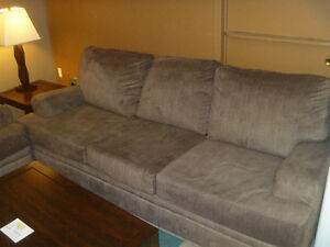 Sofa love seat, coffee table, 2 end tables and 2 lamps