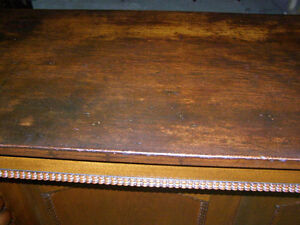 Antique Early Victorian Walnut Cupboard with Spindles & Inlays London Ontario image 3