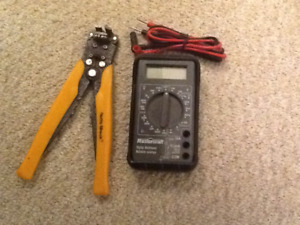 Mastercraft.  Multimeter.  and wire strippers