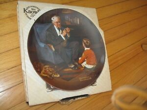 "Norman Rockwell Collector Plate ""The Tycoon"" Cambridge Kitchener Area image 2"