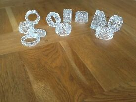 Cut Glass Napkin Rings