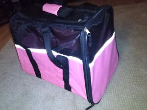 Like new beautiful Small Pet Carrier in Pink/Black asking: 15.00