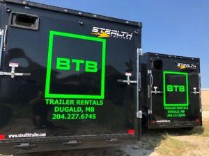 BTB TRAILER RENTALS ALL SIZES OPEN/ENCLOSED/DUMP GREAT RATES!