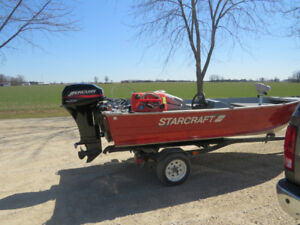 14.5 ft Starcraft w 25hp 4 stroke Outboard