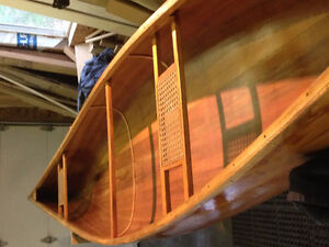 Restored Cedar Strip Canoe