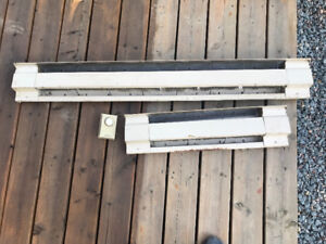 Baseboard heater still in good condition.