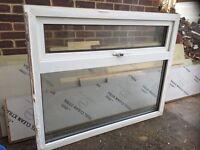 Double glazed white UPVC window 122cm by 90cm