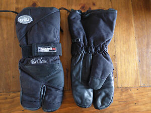 Thinsulate 3M snowmobile claw gloves for sale