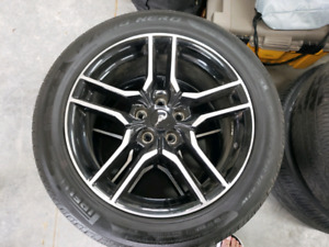 Mustang factory wheels and tires