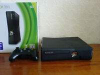 Xbox 360 4GB controller and 5 games