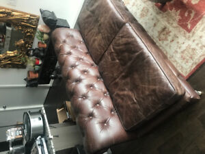 Restoration Hardware - stunning leather couch 'n