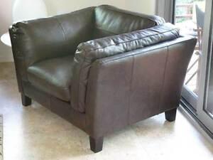 """Leather Armchair Nick Scali """"Braiden"""" Brand New Frankston Frankston Area Preview"""