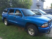 1999 DODGE DURANGO 4/4 for sale 1200$ obo