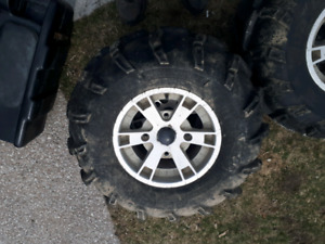 Quad tires ipt mud lights like new conditio