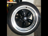 """17"""" Chrome&Black Ford rims and Wide LOW profile tires"""