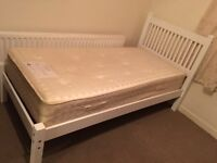 Lovely Single pine bed with mattress-Free delivery