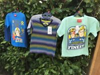 FIREMAN SAM CLOTHES BUNDLE BNWT AGE 6-7.