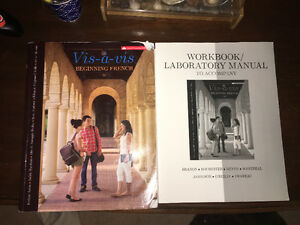French textbook and workbook