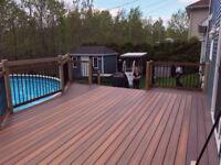 Construction patio deck terrasse en composite - 418-264-4880