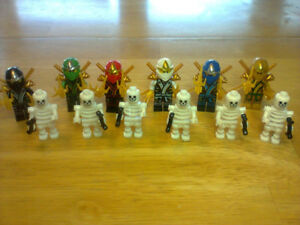 Lego compatible skeleton and ninja characters