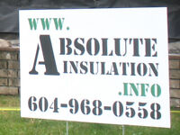 ABSOLUTE INSULATION SERVICES - INSTALL & REMOVAL