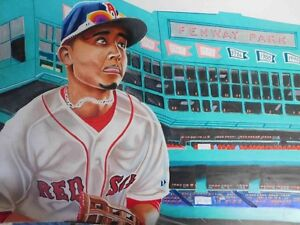 Boston Red Sox - Mookie Betts - Local Artist - Baseball