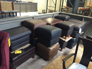 Clearing out Stock!!! Brand New ITALIAN LEATHER OTTOMANS FROM 75