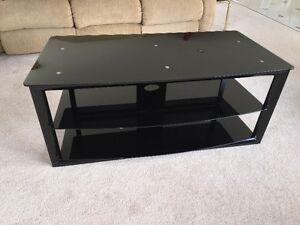 Metal and glass TV / stereo stand